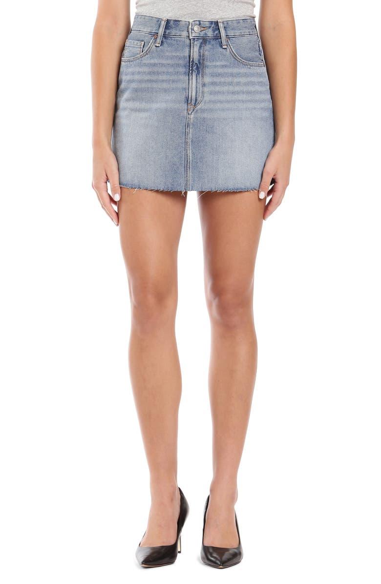 MAVI JEANS Lindsay Raw Hem Denim Miniskirt, Main, color, 420