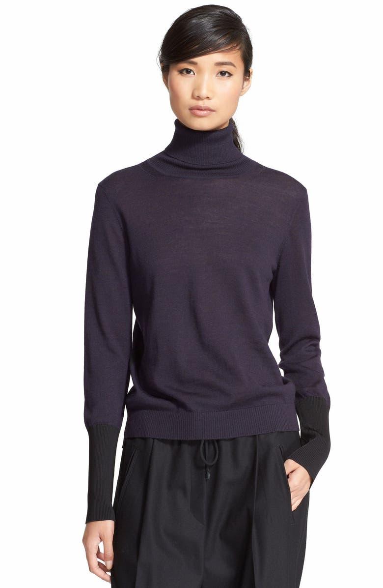 RAG & BONE 'Jessica' Wool Blend Turtleneck Sweater, Main, color, 001