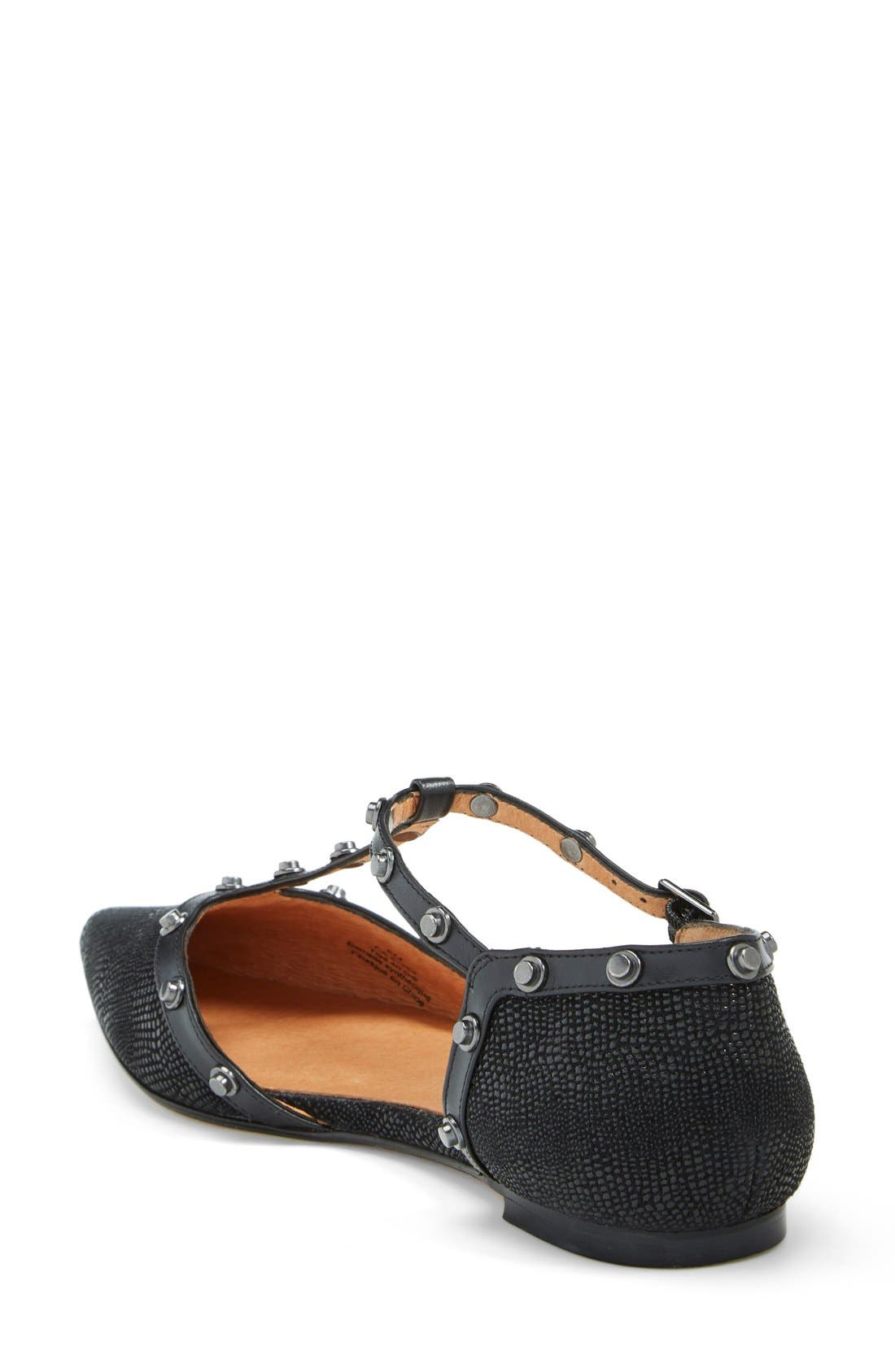 ,                             'Olson' Pointy Toe Studded T-Strap Flat,                             Alternate thumbnail 13, color,                             012