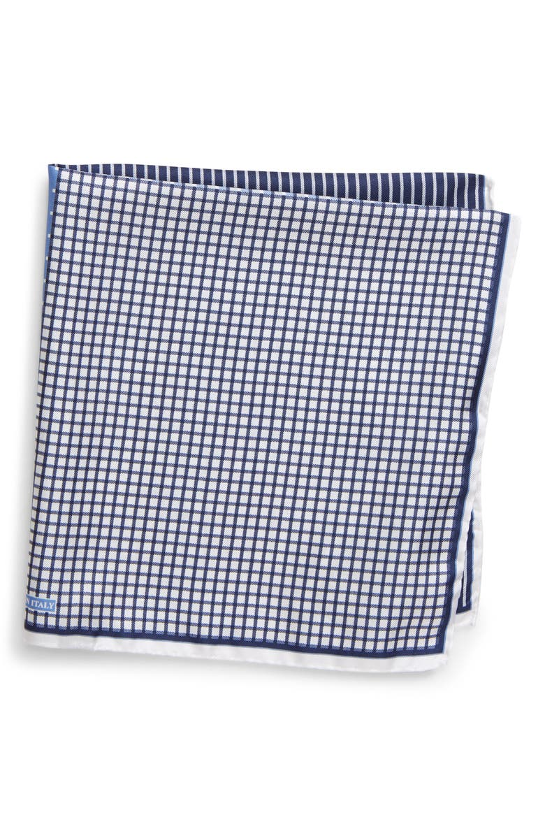 NORDSTROM MEN'S SHOP Silk Pocket Square, Main, color, BLUE