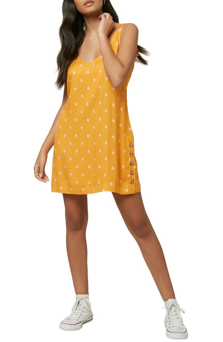 O'NEILL Floral Print Sleeveless Minidress, Main, color, DUSTY MARMALADE