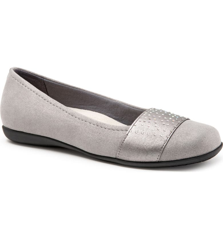 TROTTERS Samantha Flat, Main, color, GREY FABRIC