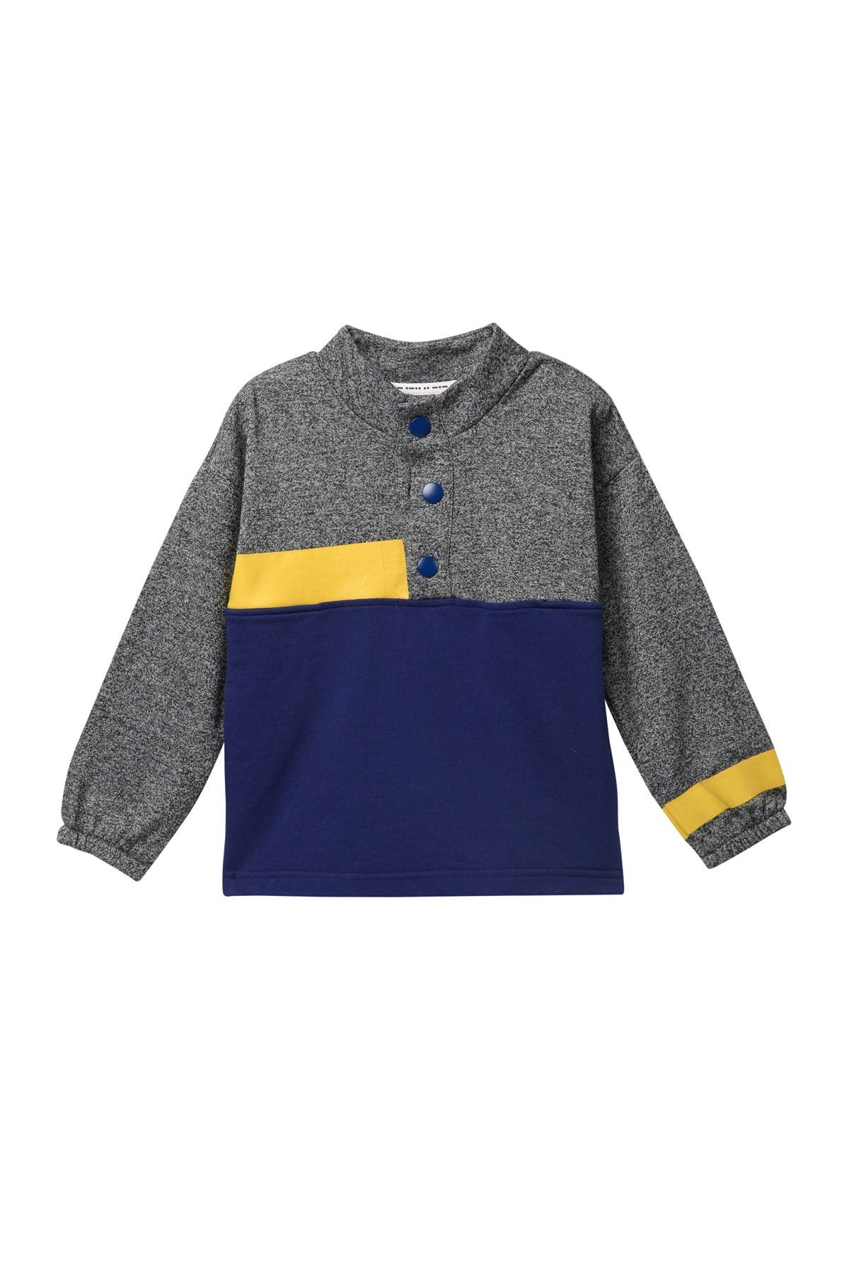 Image of Petit Lem Henley Pullover Knit Sweater