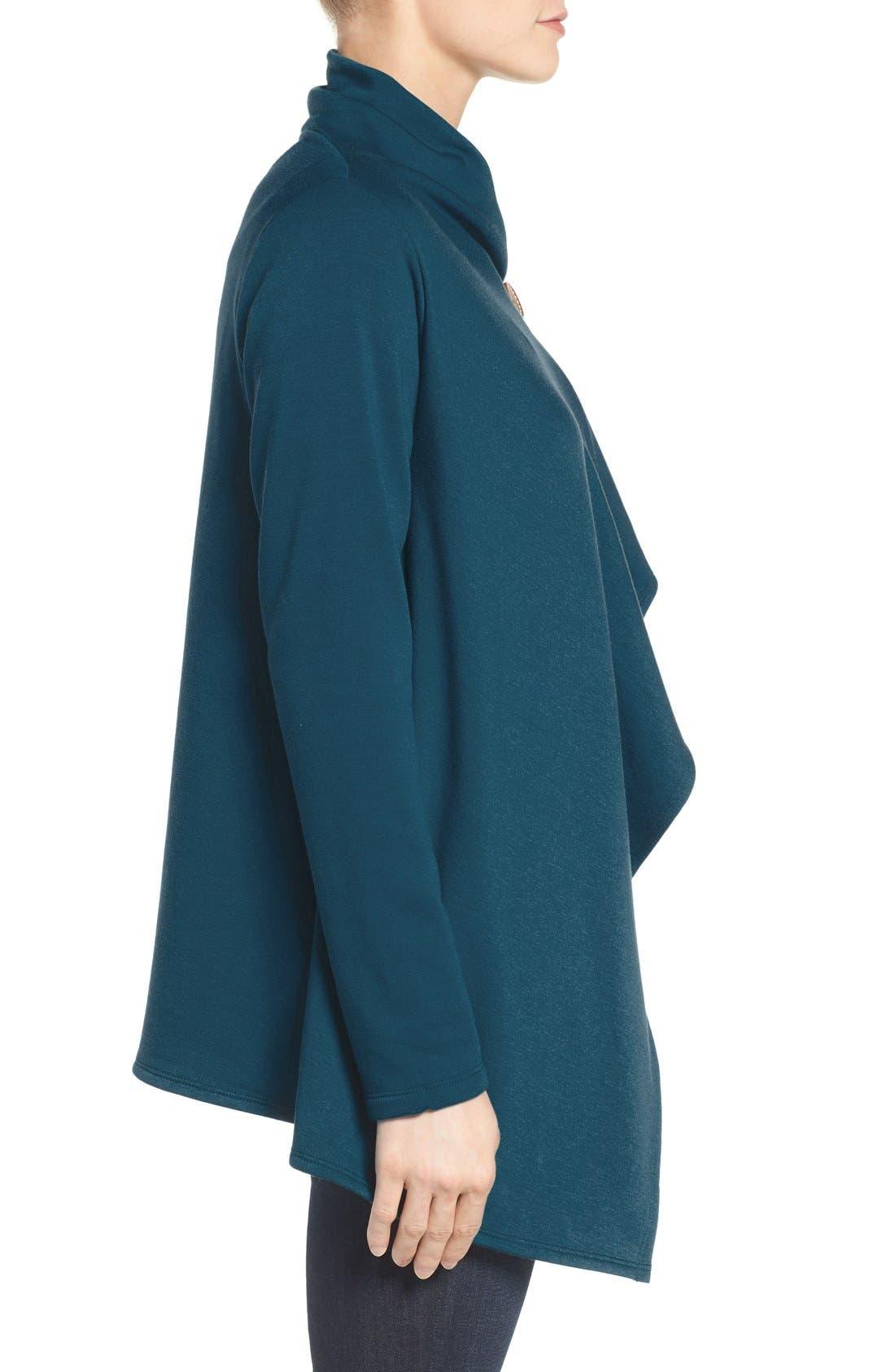 ,                             One-Button Fleece Wrap Cardigan,                             Alternate thumbnail 78, color,                             305