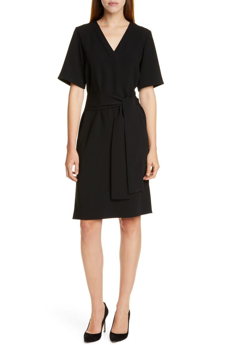 BOSS Dakali Sheath Dress, Main, color, BLACK