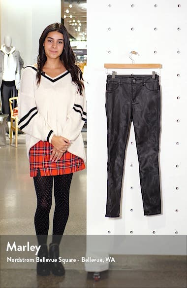 Coated High Waist Ankle Skinny Jeans, sales video thumbnail