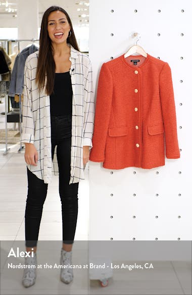Bouclé Fitted Blazer, sales video thumbnail