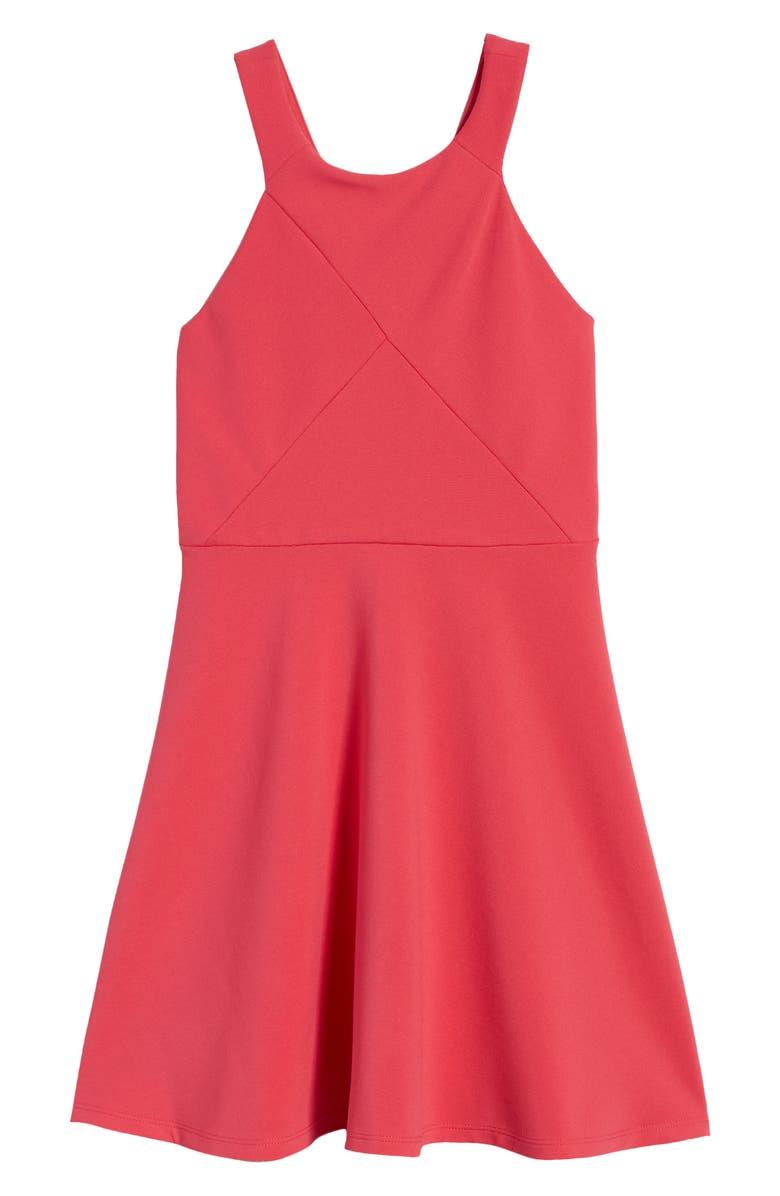 ZUNIE Pieced Skater Dress, Main, color, 651