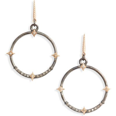 Armenta New World Diamond Hoop Drop Earrings