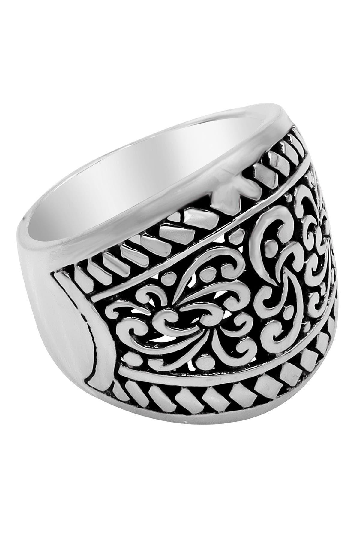 Image of DEVATA Sterling Silver Bali Filigree Wide Dome Ring