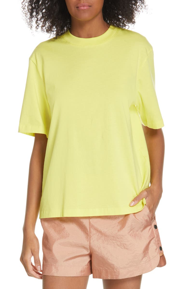 TIBI Easy Tee, Main, color, YELLOW