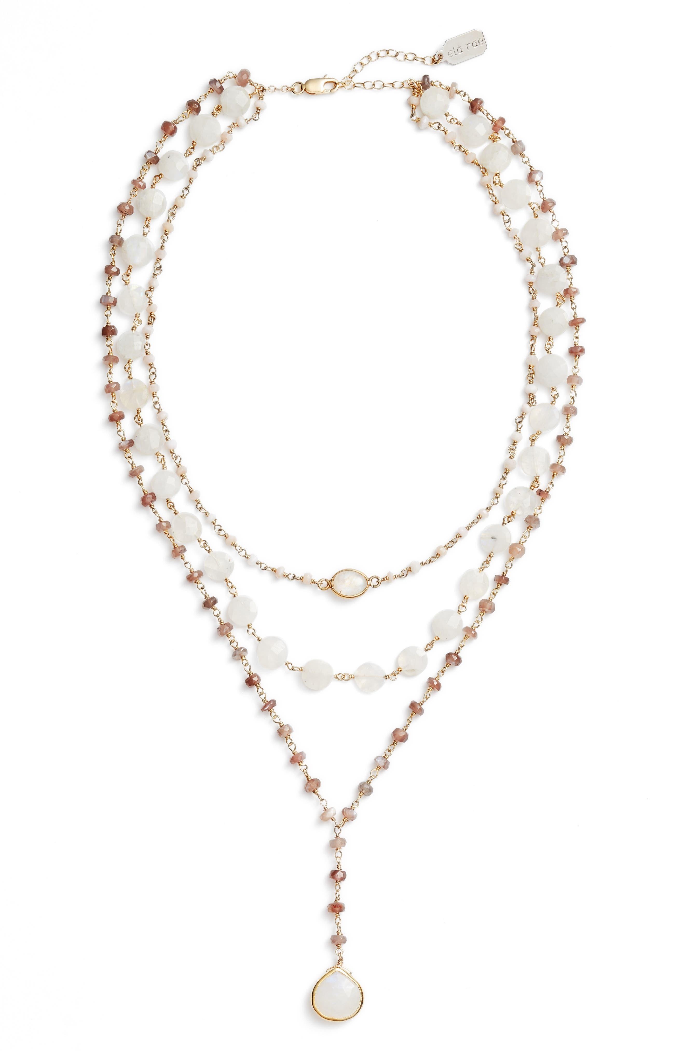 Multistrand Y-Necklace