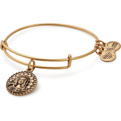 Alex And Ani Mary Magdalena Adjustable Wire Bangle