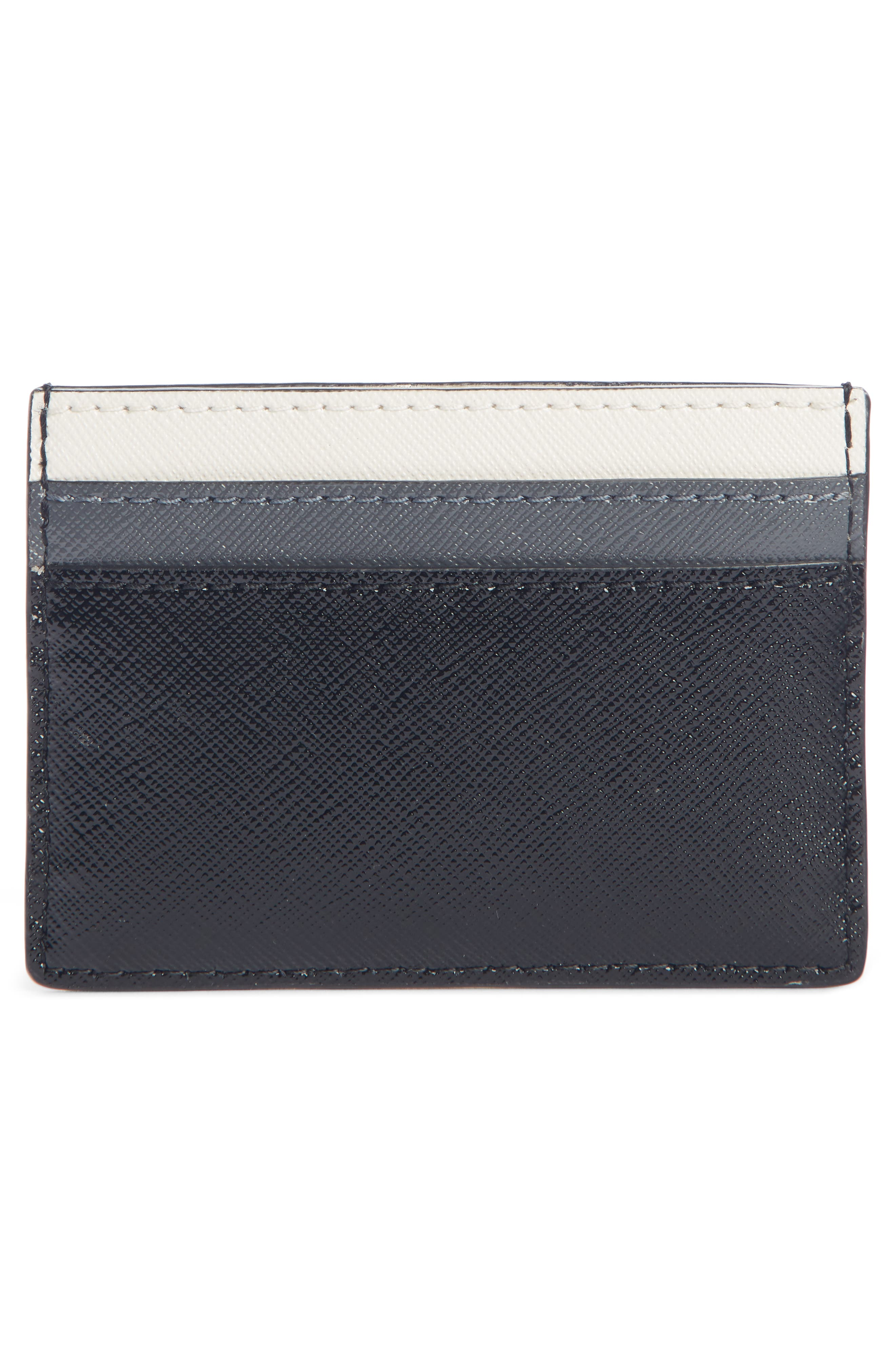 ,                             Snapshot Saffiano Leather Card Case,                             Alternate thumbnail 2, color,                             BLACK MULTI