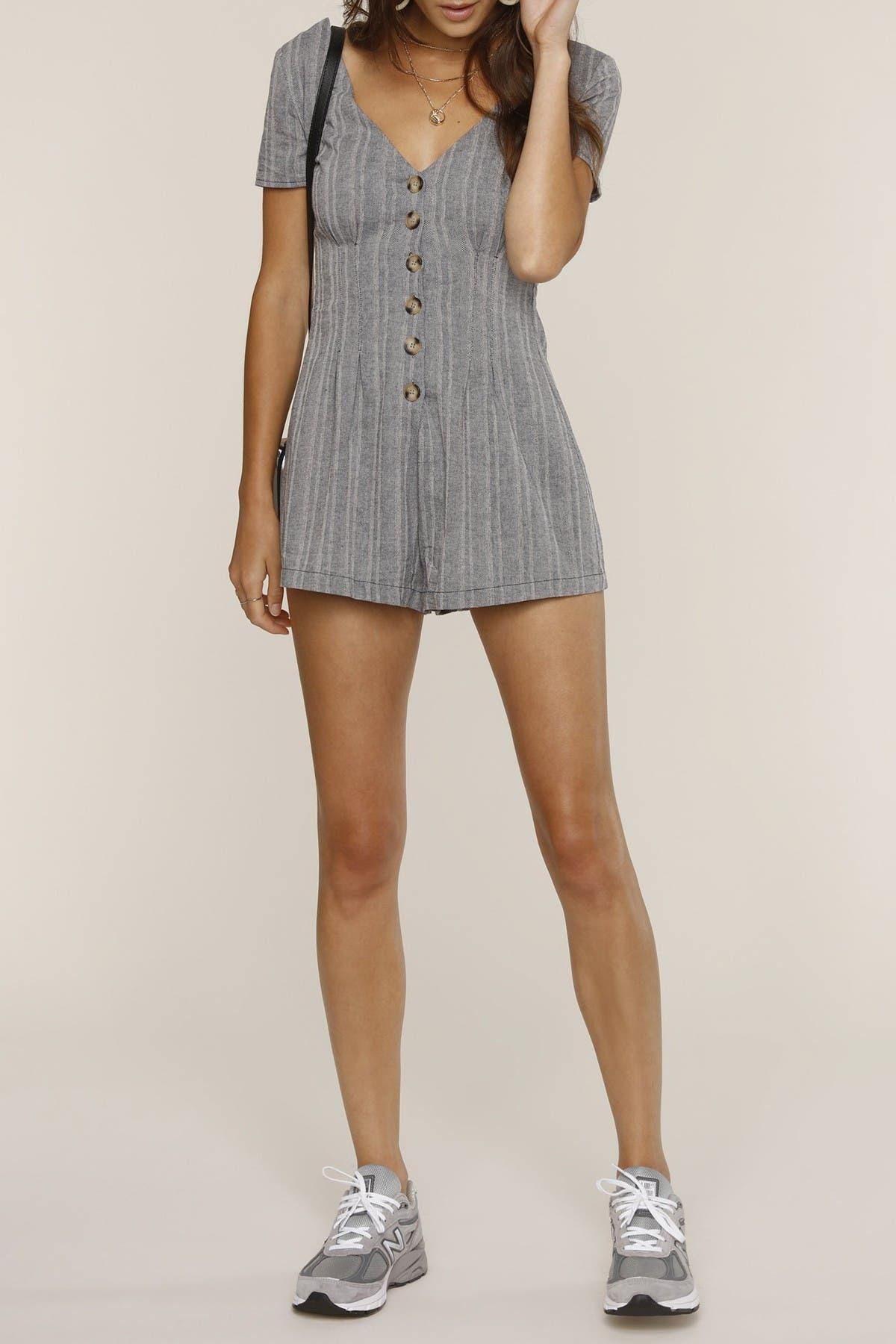Image of Heartloom Kate Striped Short Sleeve Romper