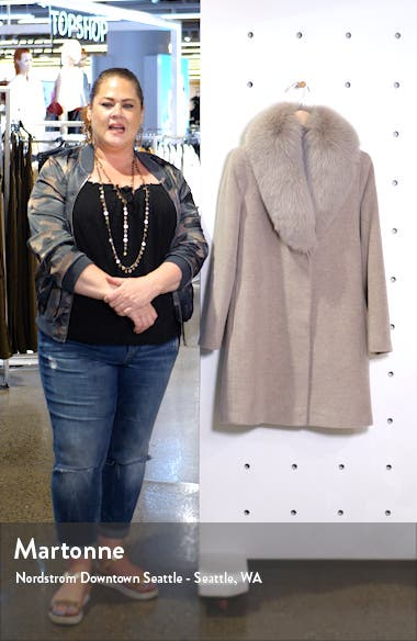 Genuine Fox Fur Collar Wool Coat, sales video thumbnail