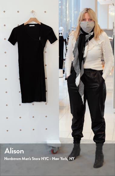 Asymmetrical Neck Cotton Rib Minidress, sales video thumbnail