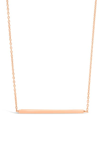 Image of Sterling Forever 14K Rose Gold Vermeil Plated Sterling Silver Thin Bar Necklace
