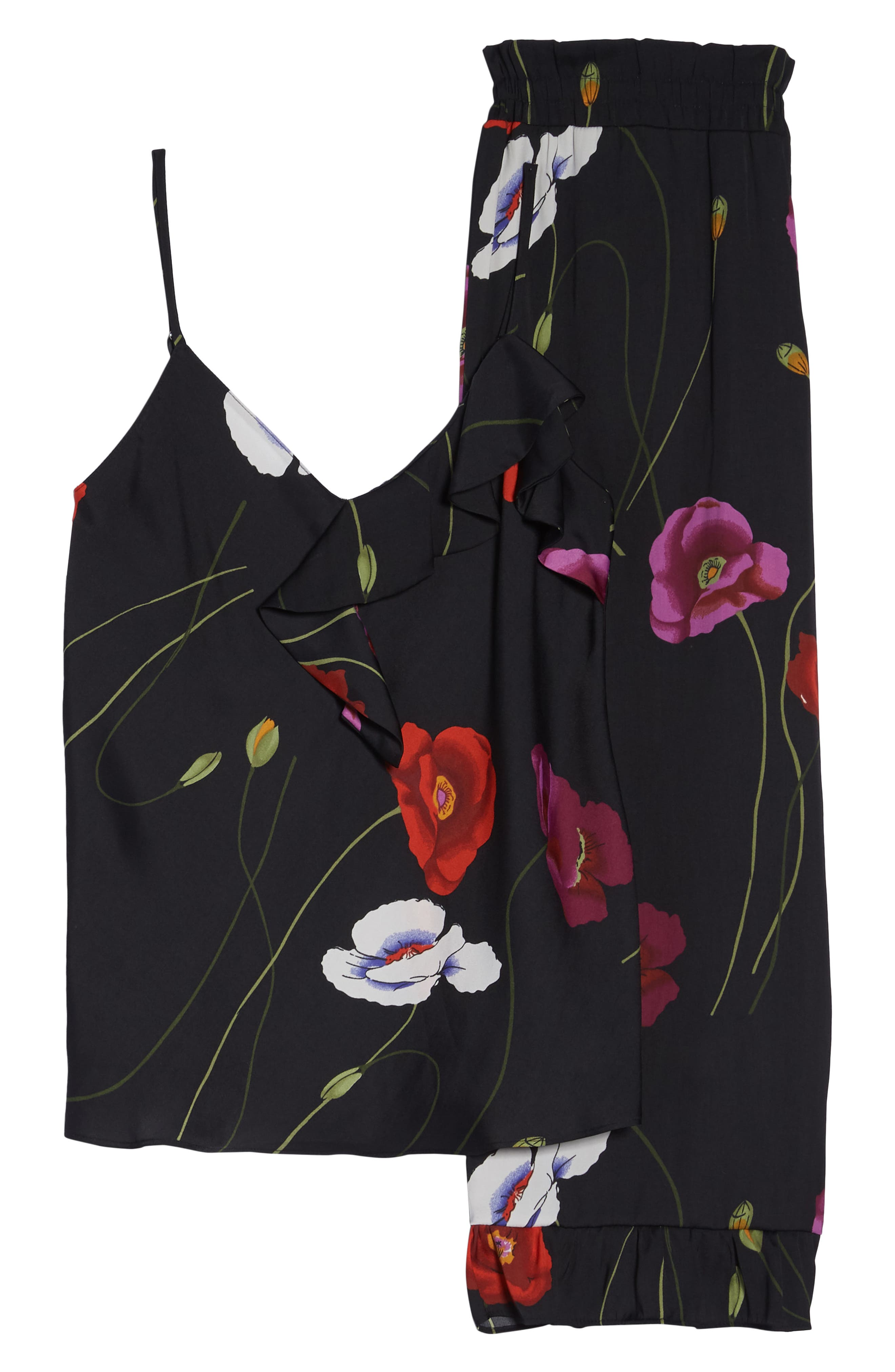 ,                             Freestyle Cami Pajamas,                             Alternate thumbnail 6, color,                             BLACK PEARL