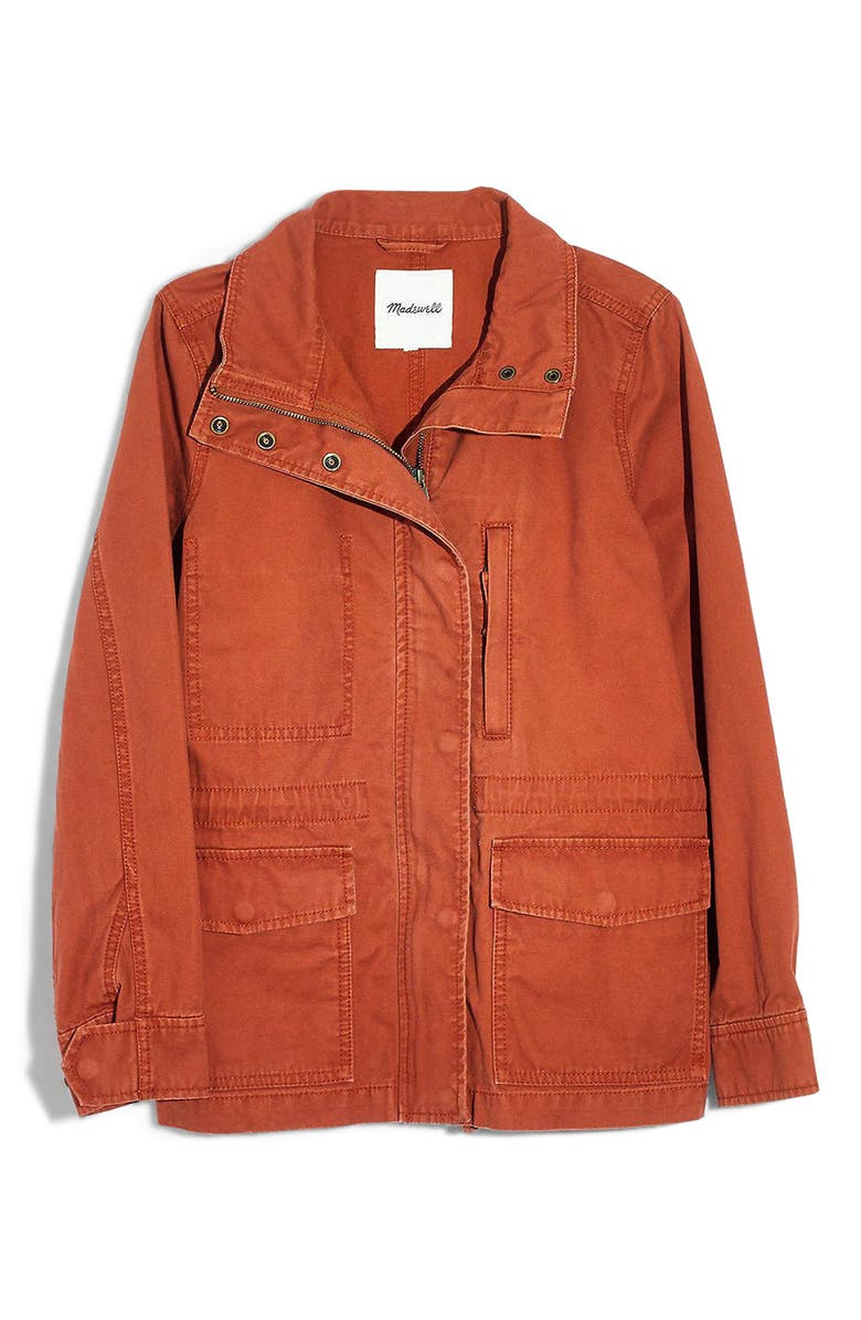 MADEWELL Surplus Cotton Jacket, Main, color, AFTERGLOW RED