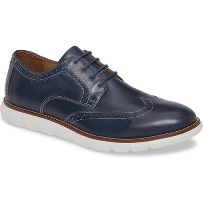 Johnston & Murphy Holden Wingtip, Blue
