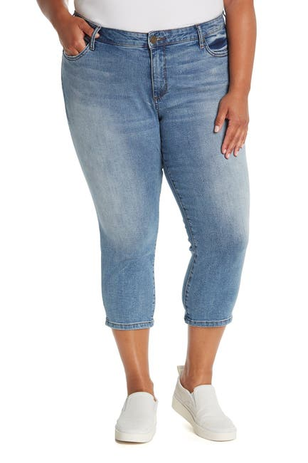 Image of KUT from the Kloth Abigail Crop Straight Leg Jeans