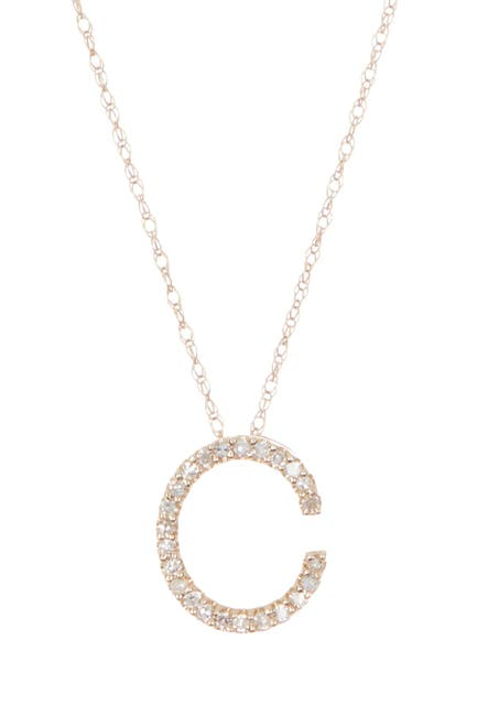 Image of Ron Hami Large Diamond Letter Slider Necklace - Multiple Letters Available
