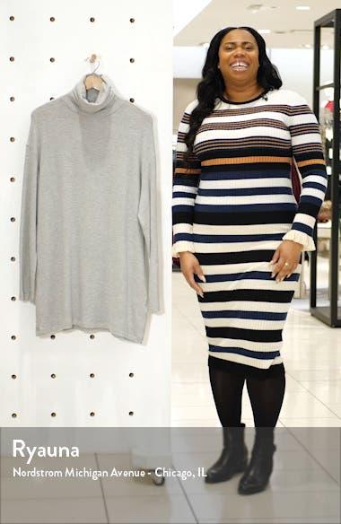 Daze Long Sleeve Turtleneck Sweater Dress, sales video thumbnail