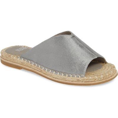Eileen Fisher Milly Espadrille Slide Sandal, Metallic