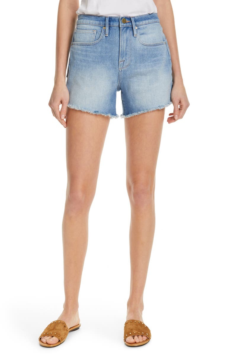 FRAME Le Brigette Denim Shorts, Main, color, 450