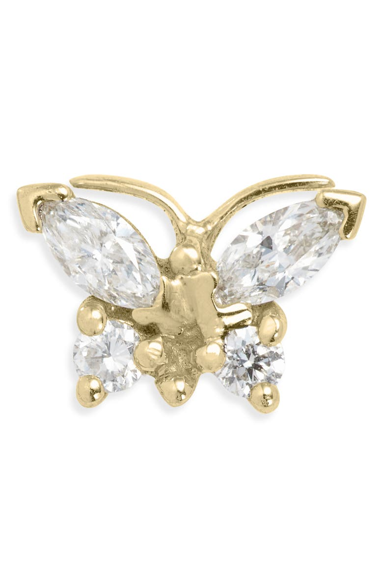 MARIA TASH Marquise Diamond Butterfly Stud Earring, Main, color, YELLOW GOLD/ DIAMOND