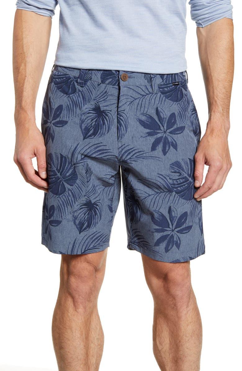 TRAVISMATHEW Cannon Ball Print Shorts, Main, color, MOOD INDIGO/ KENTUCKY BLUE