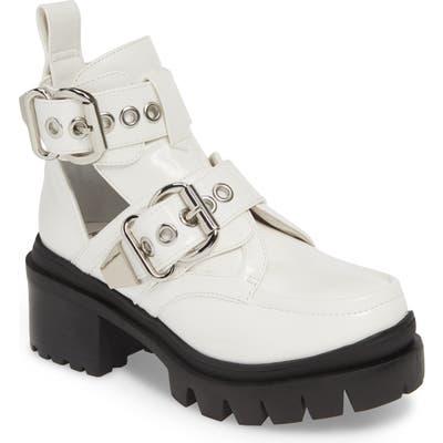 Jeffrey Campbell Lug Platform Bootie- White