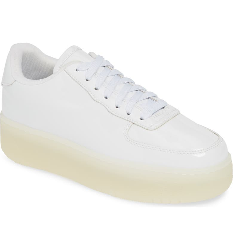 JEFFREY CAMPBELL Court Sneaker, Main, color, WHITE PATENT LEATHER/ CLEAR