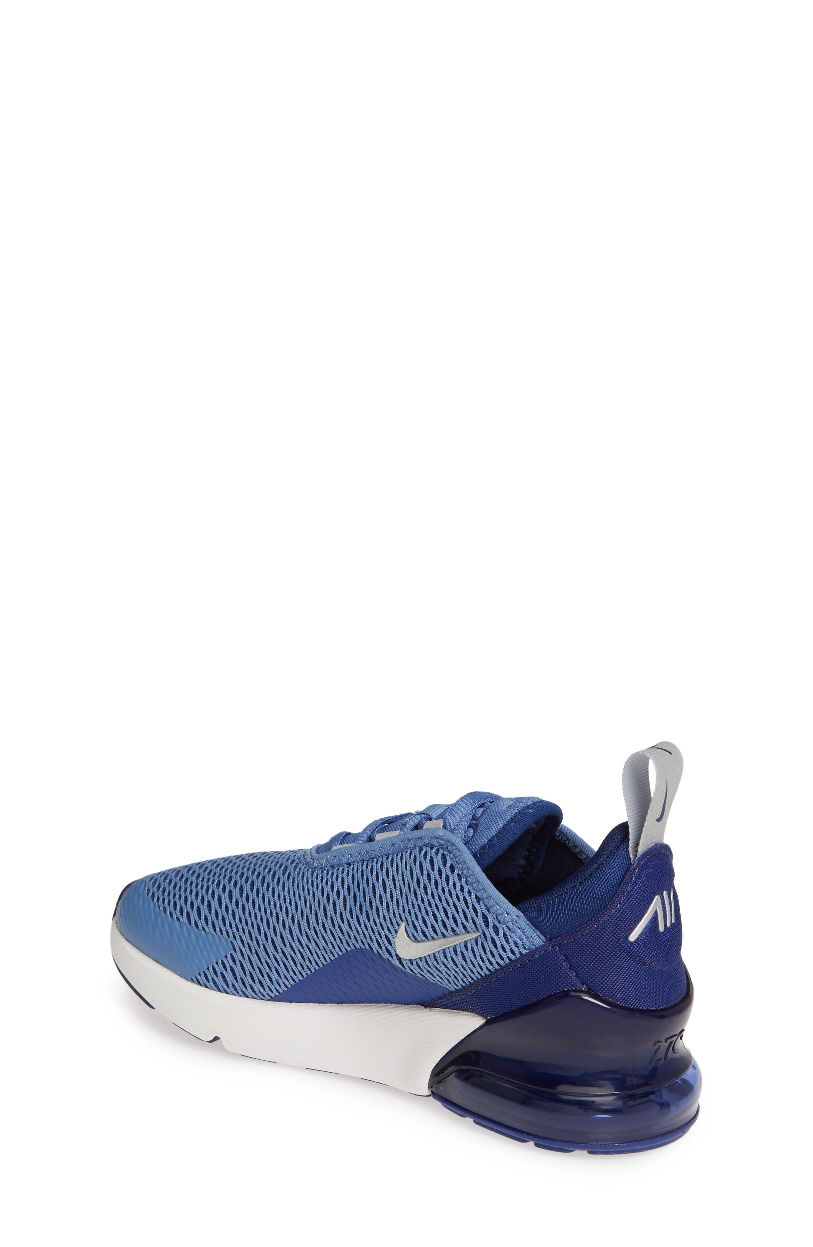 ,                             Air Max 270 Sneaker,                             Alternate thumbnail 2, color,                             INDIGO STORM/ METALLIC SILVER