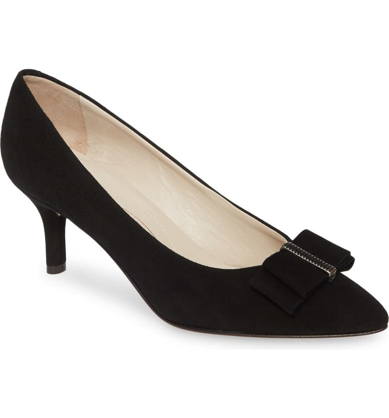 AMALFI BY RANGONI Pio Bow Pump, Main, color, BLACK SUEDE