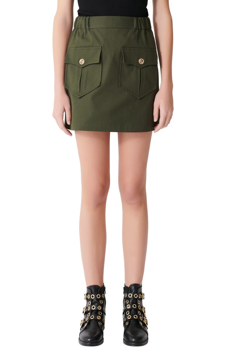 MAJE Jesna Miniskirt, Main, color, 300