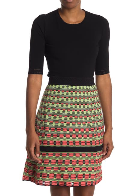 Image of M Missoni Scallop Trim Elbow Sleeve Top