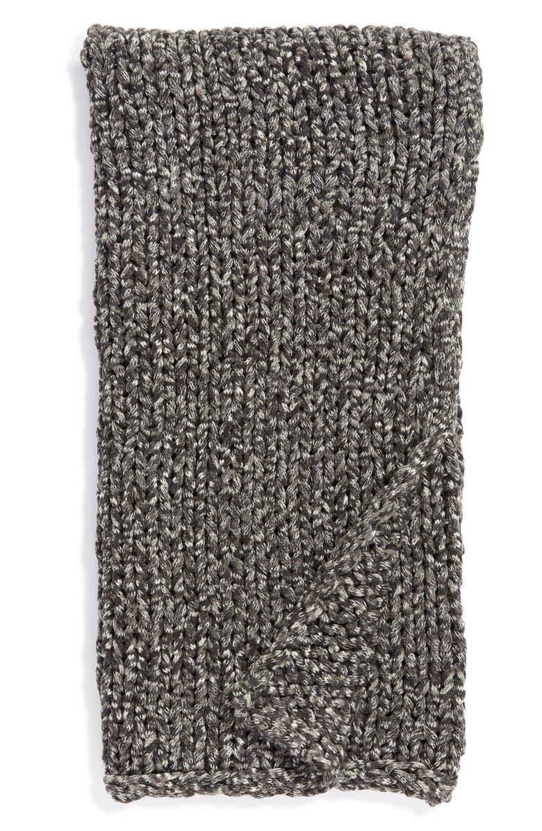 TREASURE & BOND Space Dye Jersey Rope Throw Blanket, Main, color, GREY ONYX SPACEDYE