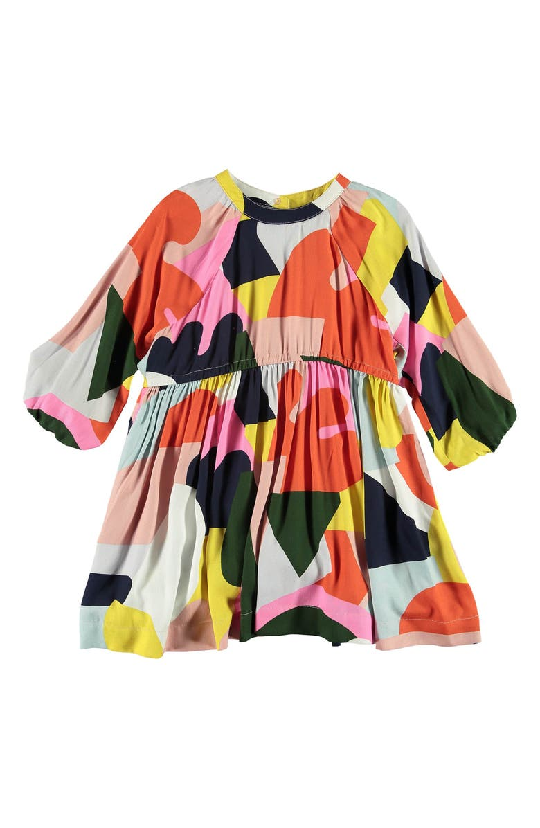 STELLA MCCARTNEY KIDS Colorblock Long Sleeve Dress, Main, color, PINK MULTI