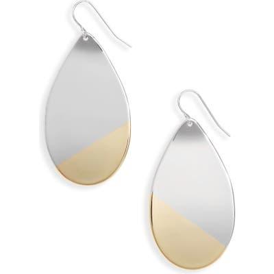 Halogen Dipped Two-Tone Teardrop Earrings