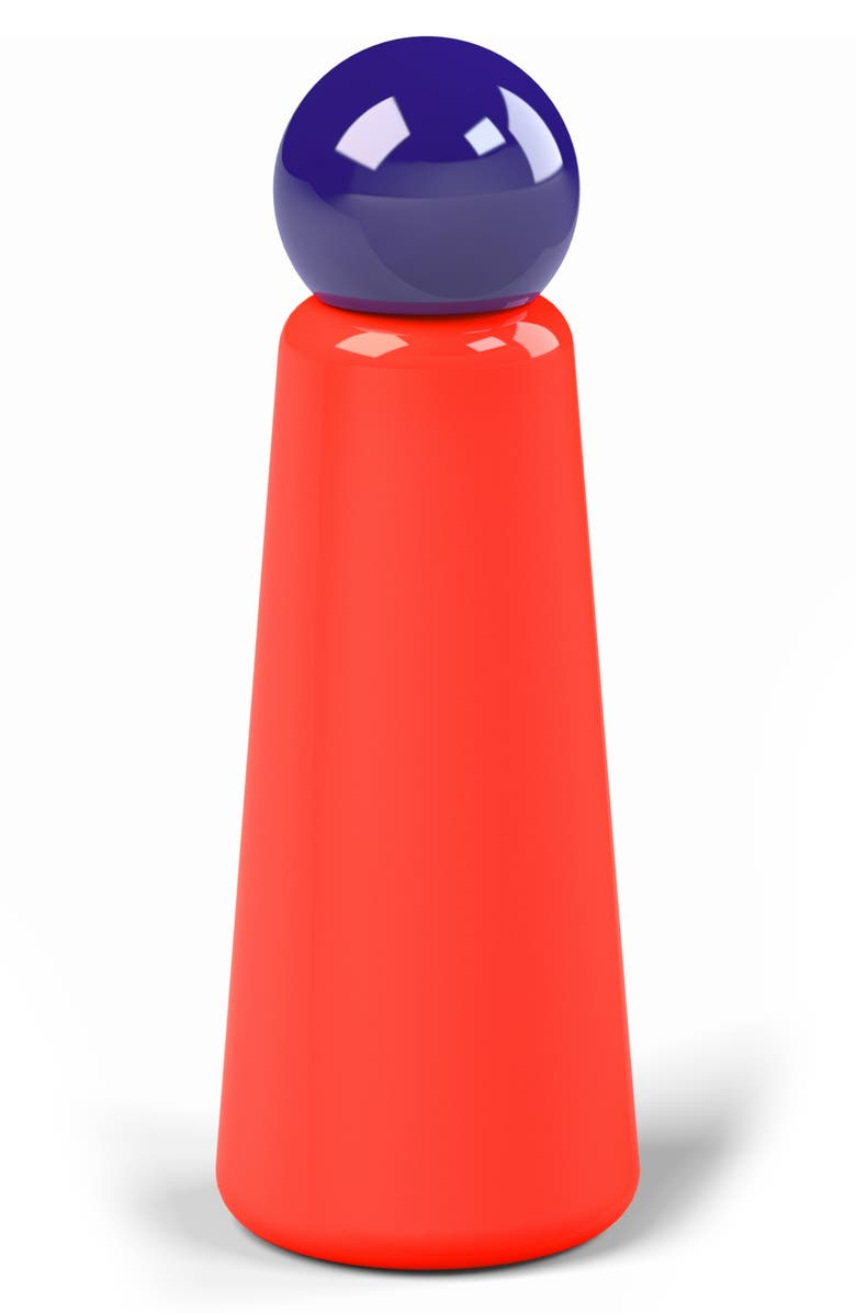 LUND LONDON Skittle Stainless Steel Bottle, Main, color, CORAL AND INDIGO