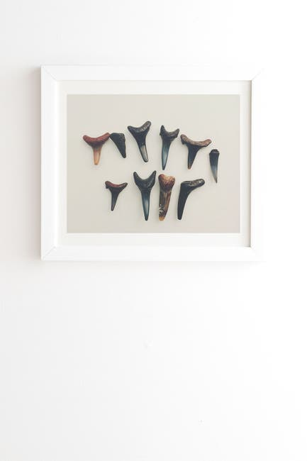 Image of Deny Designs Catherine McDonald Amelia Island Shark Teeth White Framed Art