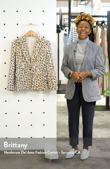 Anilah Leopard Print Linen Blazer, sales video thumbnail