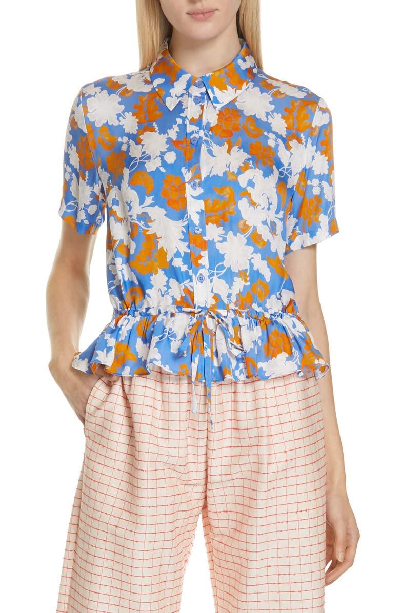 STINE GOYA Makayla Floral Print Blouse, Main, color, 400
