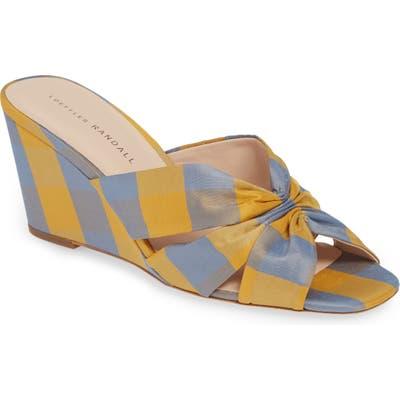 Loeffler Randall Sonya Slip-On Wedge Sandal, Yellow