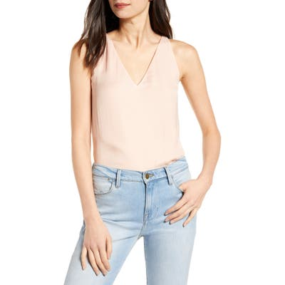 Chelsea28 Cross Back Jacquard Camisole, Pink