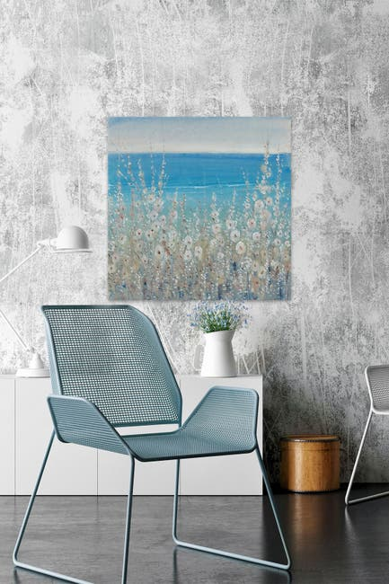 Marmont Hill Inc Flowers By The Sea Ii Painting Print On Wrapped Canvas 32 X 32 Nordstrom Rack