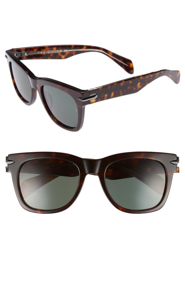 RAG & BONE 54mm Sunglasses, Main, color, DARK HAVANA