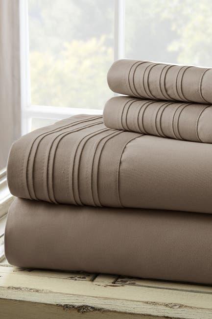 Image of Modern Threads Pleated Hem Full 4-Piece Sheet Set - Gray
